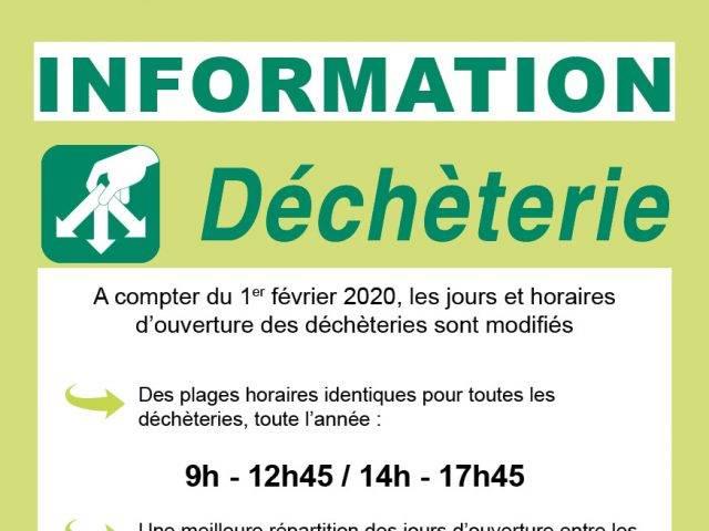 Information Déchèteries :