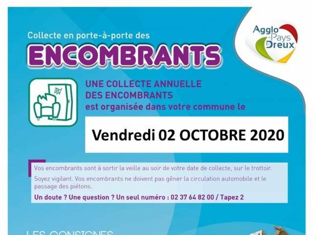 COLLECTE ENCOMBRANTS 02 OCTOBRE 2020